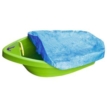 Песочница-бассейн Palplay Лодочка с покрытием (Зеленый)