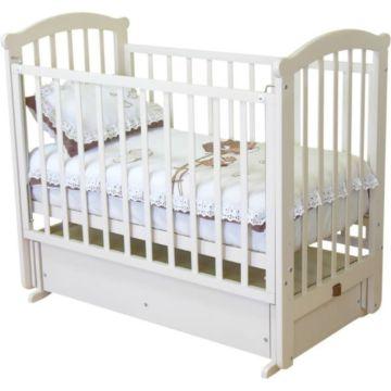 Кроватка детская Можга Ирина С 625 (поперечный маятник) (белый)