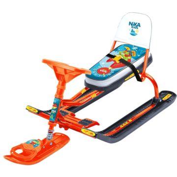 Снегокат Ника Детям Тимка спорт ТС4-1 Лисенок Nika Kids (оранжевый каркас)