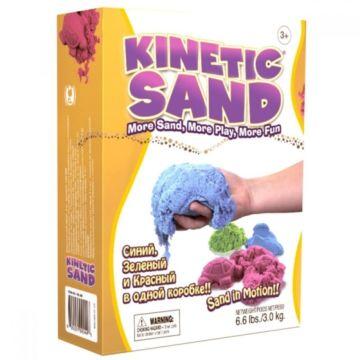 Кинетический песок Kinetic Sand (3 цвета по 1 кг)