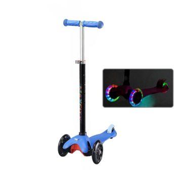 Самокат MaxCity Snoopy со светящимися колесами (blue)