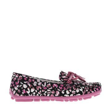 Туфли детские Kakadu 6008B для девочек (черный/фуксия)