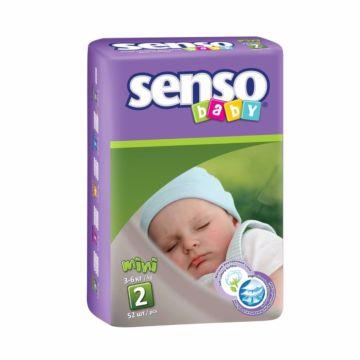 Подгузники Senso Baby Mini (3-6 кг) 52 шт