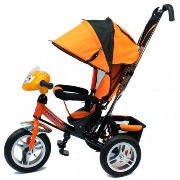 """Трехколесный велосипед Formula Trike F-7000 с надувными колесами 10"""" и 8"""" (оранжевый)"""