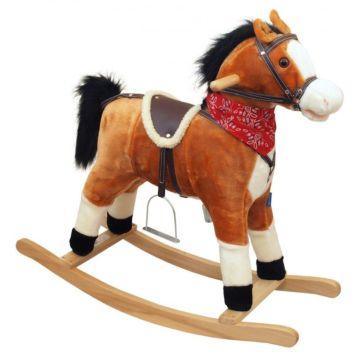 Лошадка-качалка BabyMix Oscar (рыжий, темная грива)