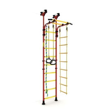 Детский спортивный комплекс Kampfer Strong Kid Ceiling + 26 см (красный-желтый)