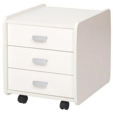 Тумба Астек 3 ящика (белый)