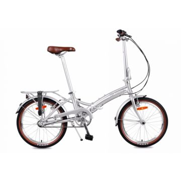 Велосипед складной Shulz Goa V-brake (2017) серебристый
