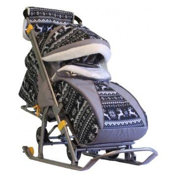 Санки-коляска Galaxy Luxe Финская Ночь