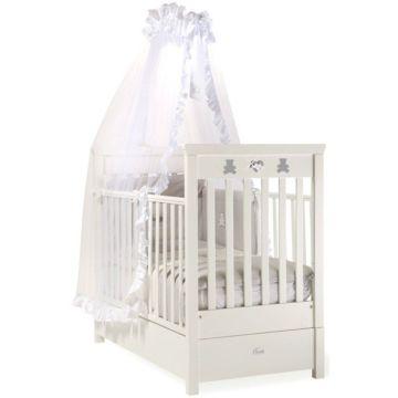 Кроватка детская Feretti FMS Elite (продольный маятник) (белая)