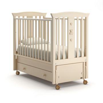 Кроватка детская Nuovita Fasto Swing (продольный маятник) (слоновая кость)