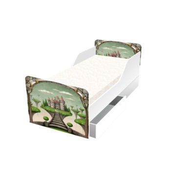 Кровать с ящиками Кроватка5 Классика (Сказочный замок)