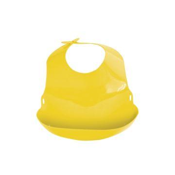 Нагрудник Lubby С отворотом пластиковый (Желтый)