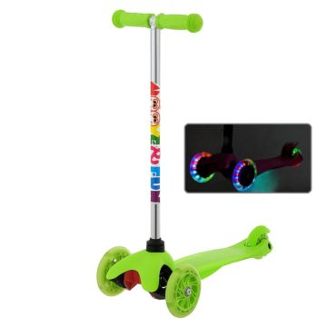 Самокат Moove&Fun Mini Led со светящимися колесами (зеленый)