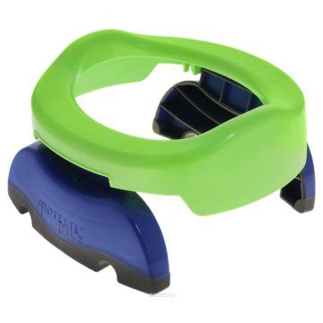 Горшок Potette Plus Portable Potty + 3 одноразовых пакета (зеленый)