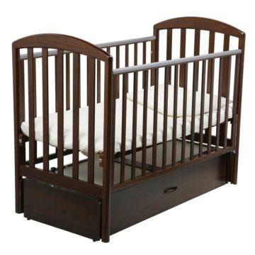 Кроватка детская Papaloni Джованни (продольный маятник) (Орех шоколадный)