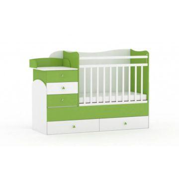 Кровать-трансформер Фея 1400 (Белый-лайм)