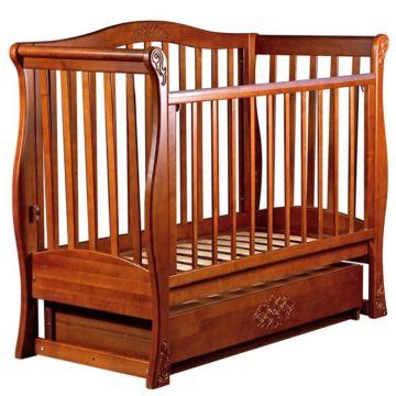 Кроватка детская Наполеон Viva Luxury с поперечным маятником (орех)