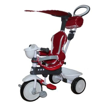 """Трехколесный велосипед Mini Trike с ПВХ-колесами 10"""" и 8"""" (красный)"""