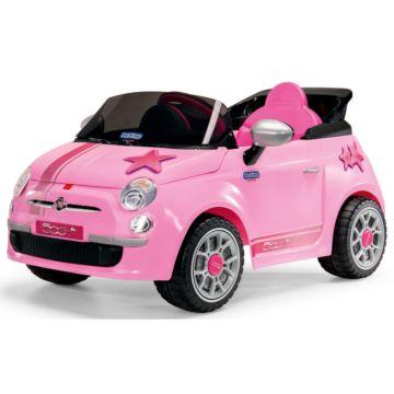 Электромобиль Peg Perego Fiat 500 с радиоуправлением (розовый)