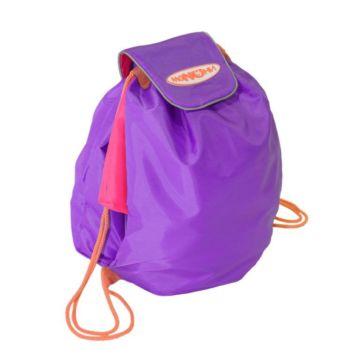 Мешок под обувь Манюни Всёвлезайка (фиолетовый с розовым)