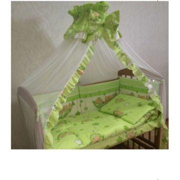 Комплект постельного белья Луняшки Баю-Бай 150х110см (3 предмета, шатель) (зеленый)