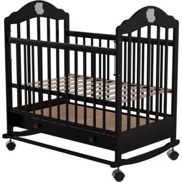 Кроватка детская Briciola 7 (качалка-колесо) (темная)