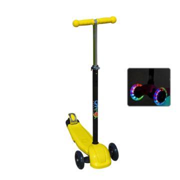 Самокат Ateox M-6 со светящимися колесами (желтый)