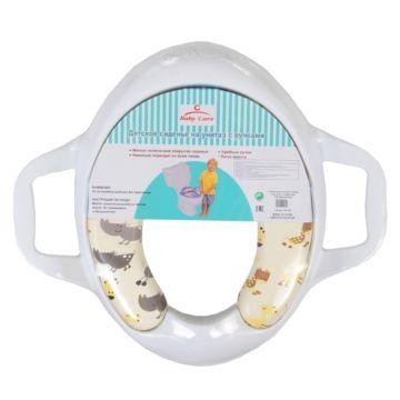 Накладка на унитаз Baby Care РМ258 с ручками (белый)