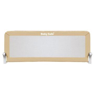 Барьер безопасности для кроватки Baby Safe Прямоугольник 180х42см (Бежевый)
