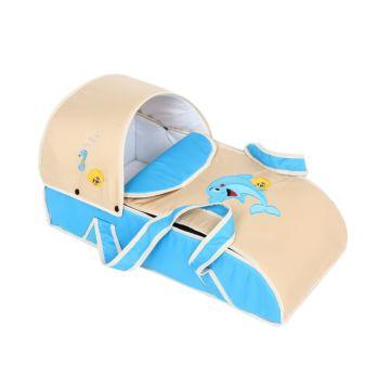 Сумка-переноска Slaro Дельфинчик (Голубой+Светло-бежевый)