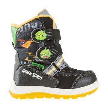 Сапоги детские Angry Birds 5770A для мальчиков (черные)