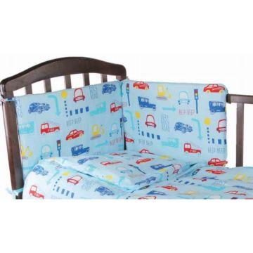 Бампер для кроватки Baby Care Машинки