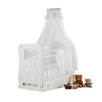 Кроватка детская Островок Уюта Мальвина (поперечный маятник) (белый)