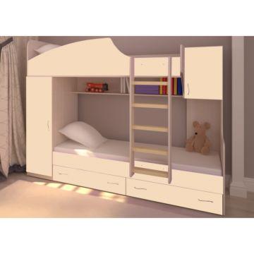 Кровать двухъярусная Ярофф Юниор-2 (дуб молочный/бежевый)