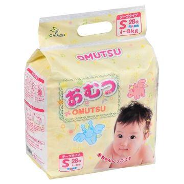 Подгузники Omutsu S (4-8 кг) 28 шт