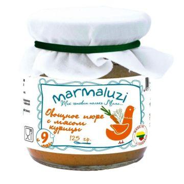 Пюре овощное Marmaluzi с мясом курицы (с 9 мес., 125 г)