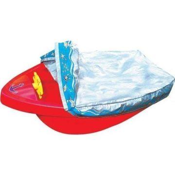 Песочница-бассейн Palplay Лодочка с покрытием (Красный)