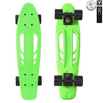 """Мини-круизер Y-Scoo Fish Skateboard Fishbone 22"""" с сумкой (green)"""