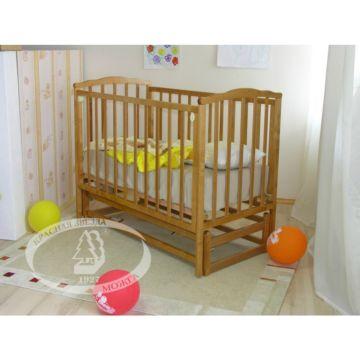 Кроватка детская Можга Кристина (продольный маятник) (медовый)