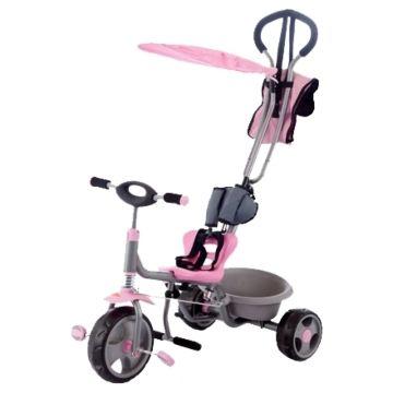 """Трехколесный велосипед Jetem Chopper с ПВХ-колесами 10"""" и 8"""" (розовый)"""