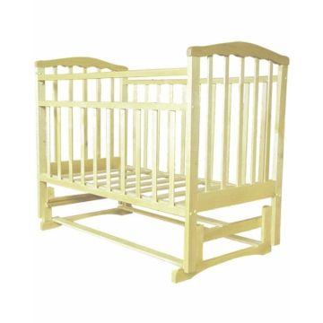 Кроватка детская Агат Золушка-5 (продольный маятник) с подставкой (Слоновая кость)