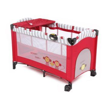 Манеж-кровать Capella Sweet Time Monkey (Красный)