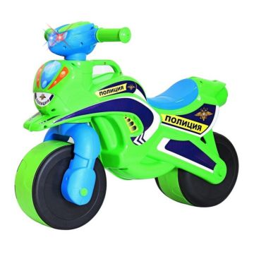 Беговел-мотоцикл RT Motobike Police со светом и сигналами (зеленый)