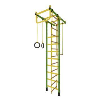 Детский спортивный комплекс Лидер Т-02 (зелено-желтый)