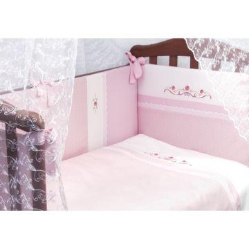 Комплект постельного белья Сонный Гномик Прованс 120х60см (3 предмета) розовый