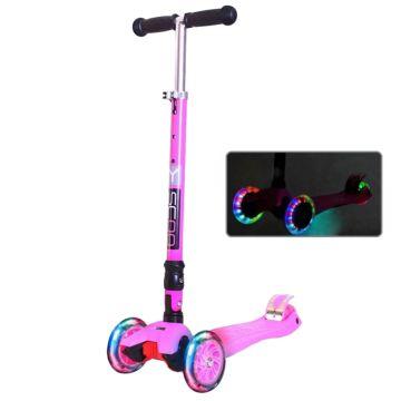 Самокат Y-Scoo 35 Maxi Fix Shine со светящимися колесами (pink)