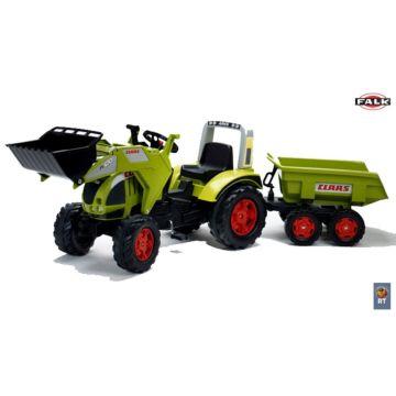 Трактор педальный Falk c ковшом и прицепом (зеленый)