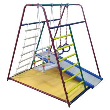 Детский спортивный комплекс Вертикаль Веселый Малыш Mini с мягкой горкой