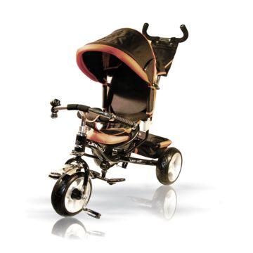 """Трехколесный велосипед VipLex 908-3D с ПВХ-колесами 10"""" (черный)"""
